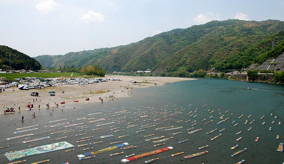仁淀川紙のこいのぼり / 写真提供:いの町観光協会