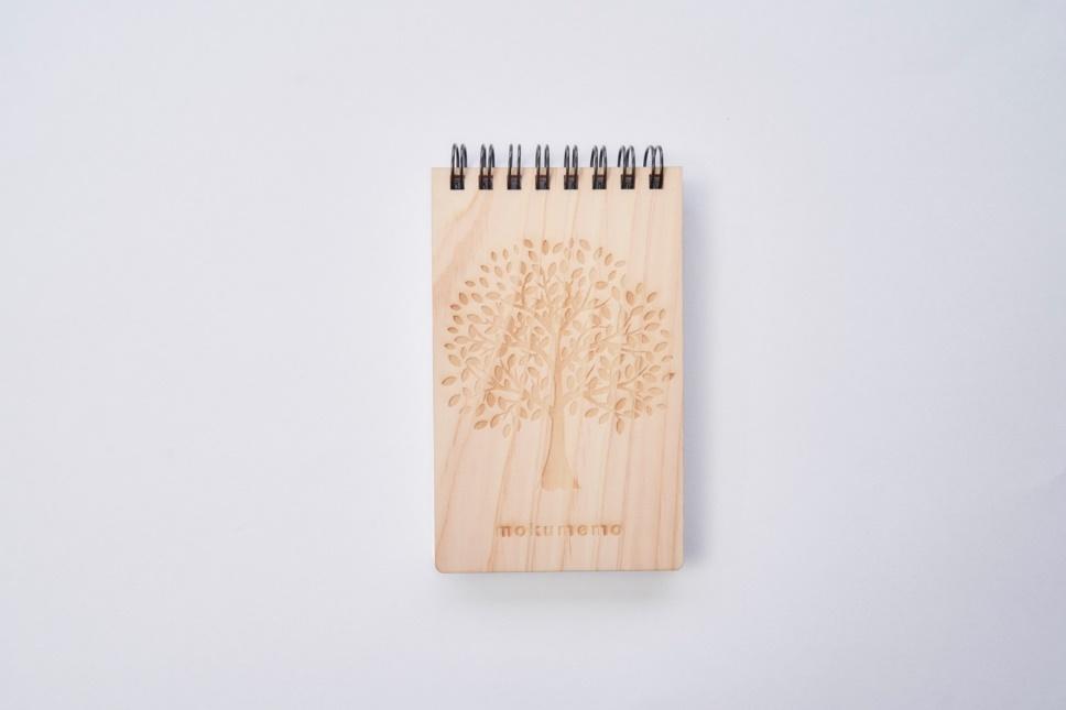 木のリングメモ(仕上がりサイズW74×H120、A7の寸延び)